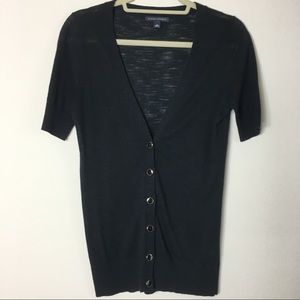 Banana Republic Black Short Sleeve Cardigan Small